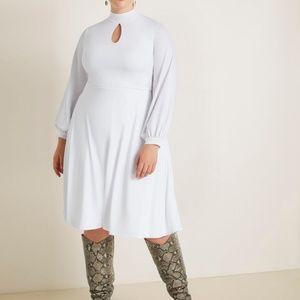 Plus Size mock neck keyhole Eloquii dress